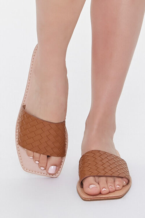 Basketwoven Square-Toe Sandals, image 4