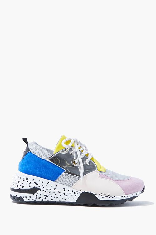 Colorblock Faux Suede Sneakers, image 1