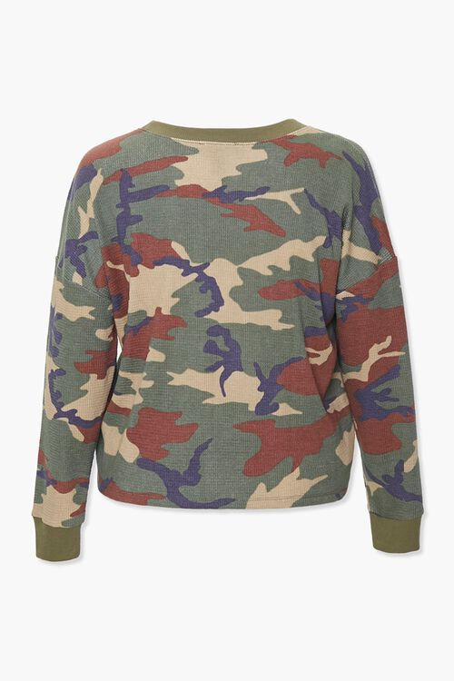Plus Size Camo Thermal Top, image 3