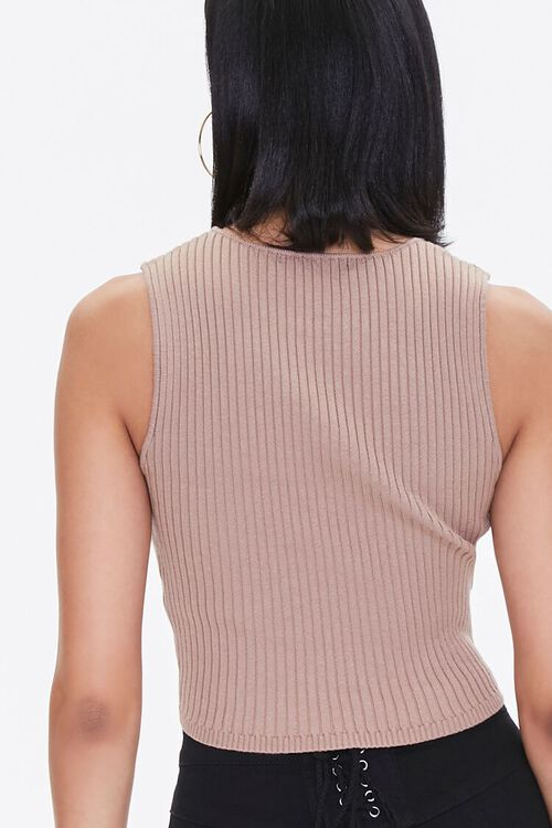 Ribbed Sweater-Knit Tank Top, image 3