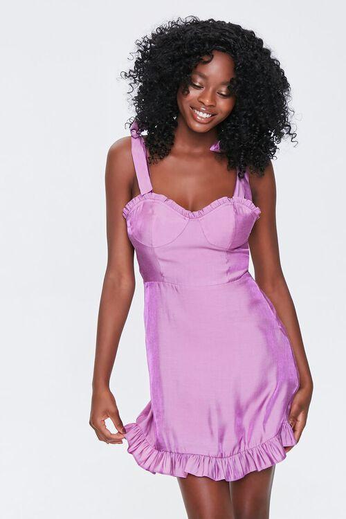Sheeny Self-Tie Mini Dress, image 1