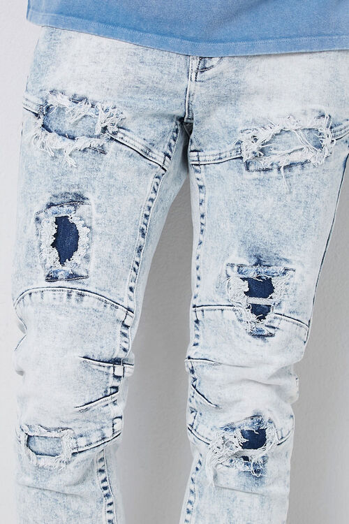 Distressed Panel Slim-Fit Jeans, image 5