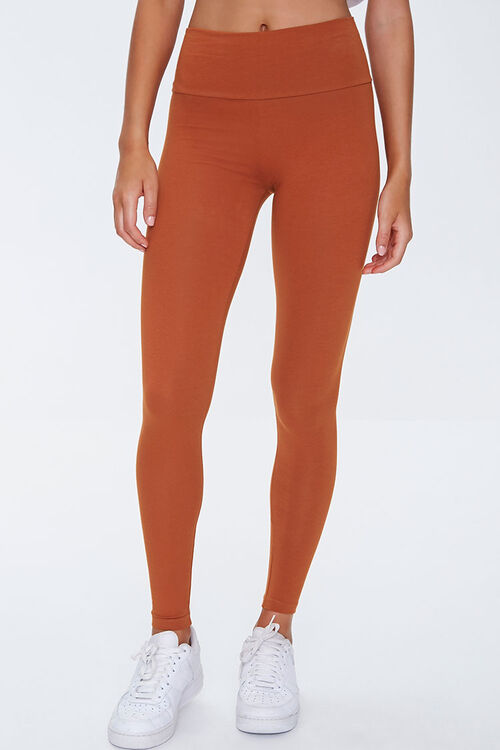 Basic Cotton-Blend Leggings, image 2