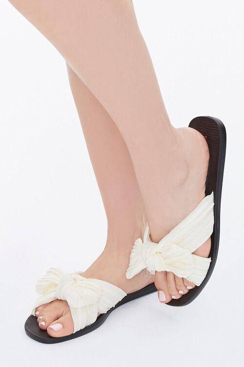 Chiffon Crisscross Bow Sandals, image 1
