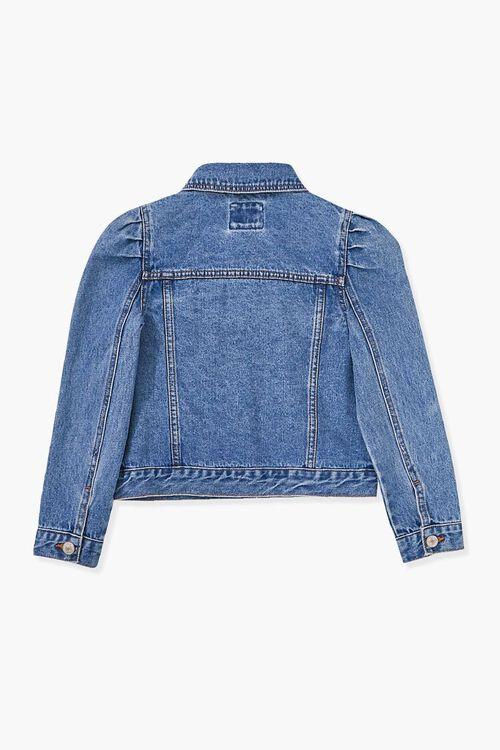 Girls Puff-Sleeve Denim Jacket (Kids), image 2