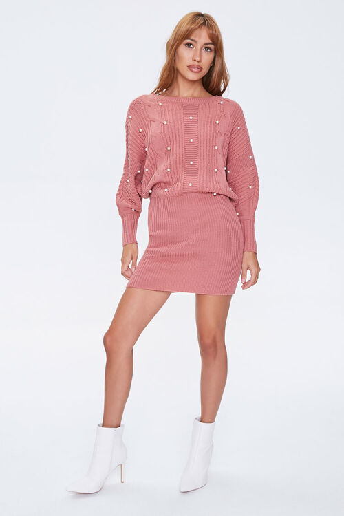 ROSE Faux Pearl Sweater Dress, image 4