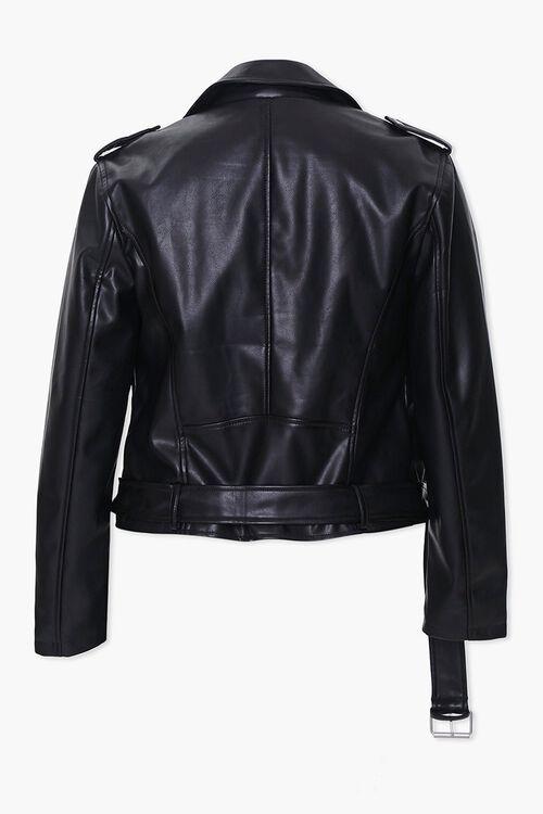 Plus Size Faux Leather Moto Jacket, image 3