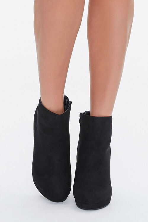 Faux Suede Stiletto Booties, image 4