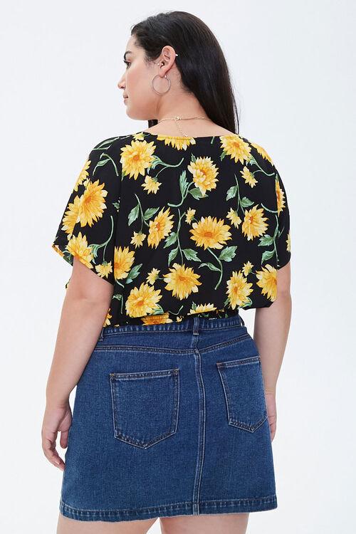 Plus Size Floral Smocked-Hem Top, image 3