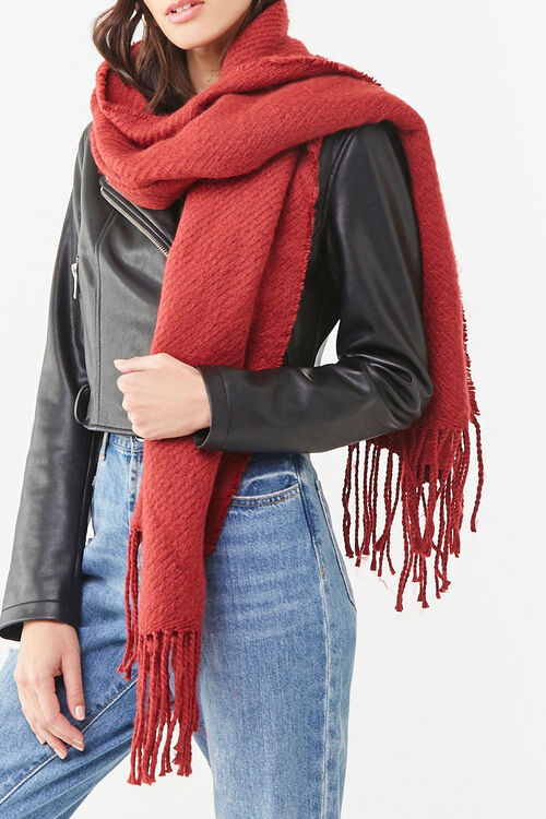 Ribbed Oblong Scarf, image 1