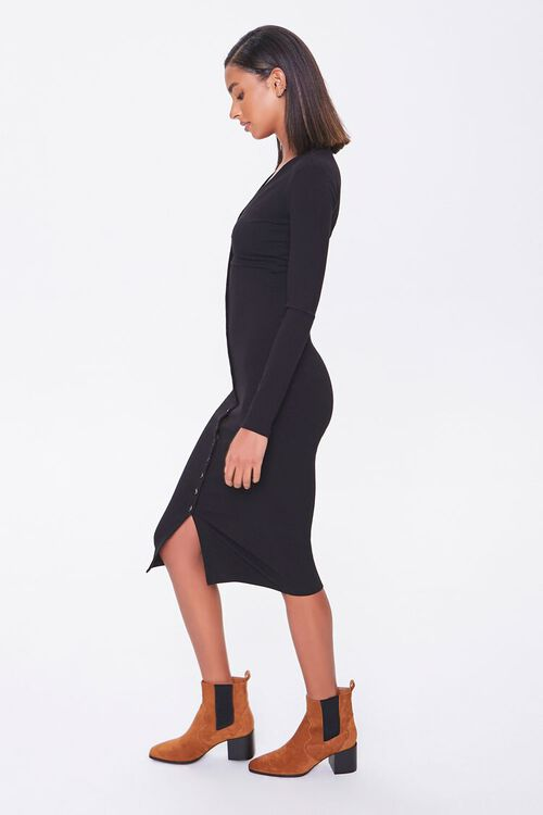 Button-Front Midi Dress, image 2