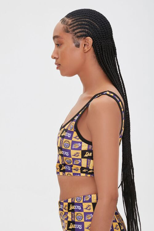 Lakers Print Cropped Tank Top, image 2