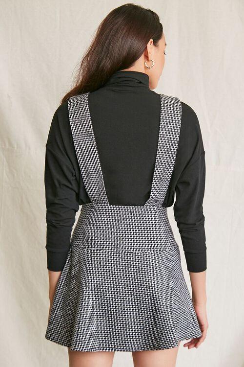 BLACK/MULTI Double-Breasted Mini Pinafore Dress, image 3