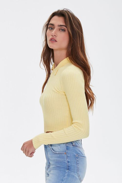 Zip-Front Cropped Sweater, image 2