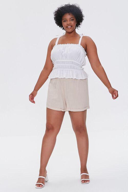 Plus Size Smocked Shorts, image 5