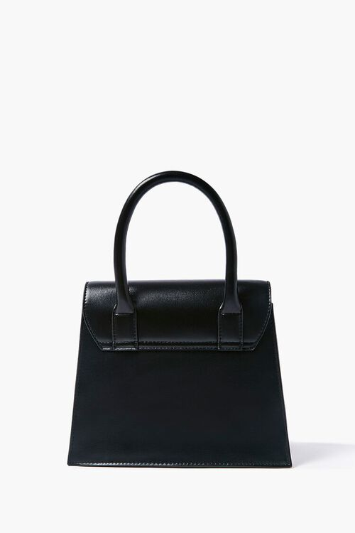 Faux Leather Structured Satchel, image 3