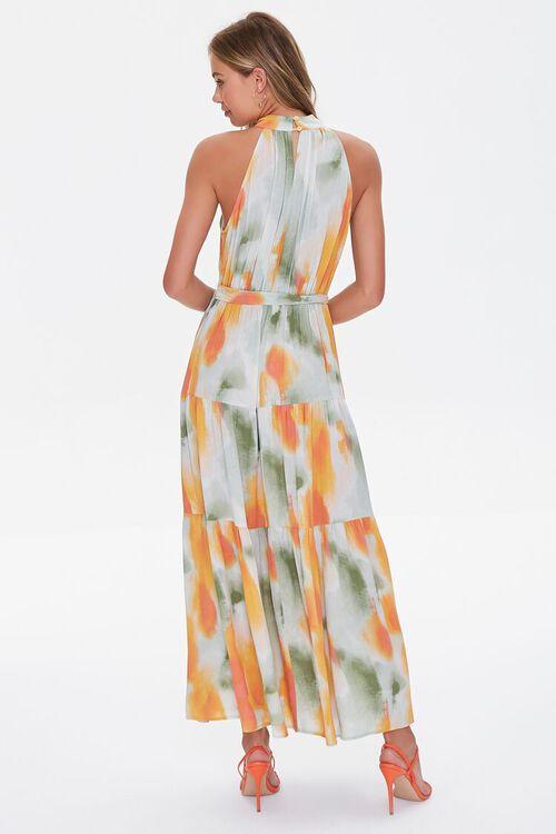 Watercolor Wash Halter Maxi Dress, image 3