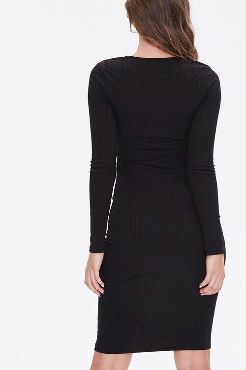 Ribbed Cutout Bodycon Dress, image 3