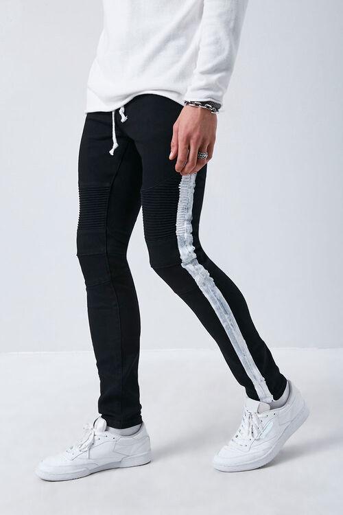 Side-Striped Skinny Jeans, image 1
