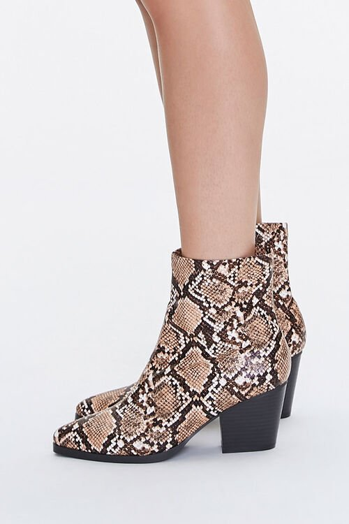 Faux Snakeskin Booties (Wide), image 2