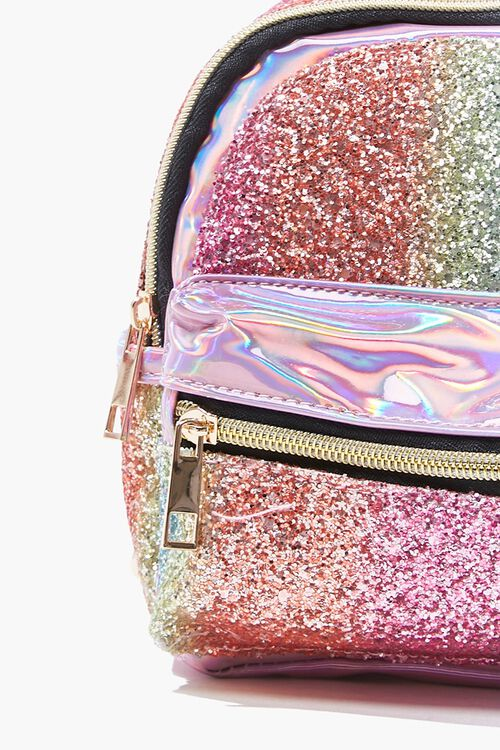 Girls Metallic Glitter Backpack (Kids), image 4