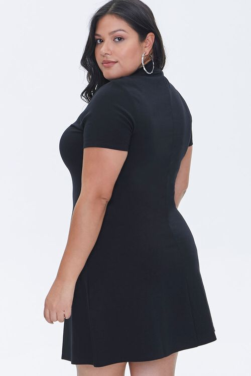 Plus Size Mock Neck Skater Dress, image 3