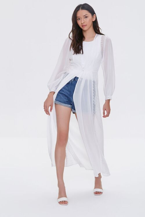 Sheer Lace Duster Jacket, image 1