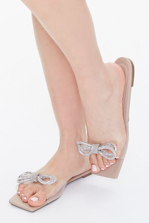 Clear-Strap Bow Sandals, image 1