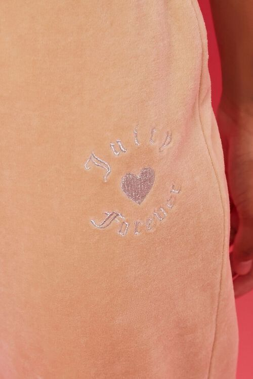 TAUPE/SILVER Rhinestone Juicy Couture Velour Joggers, image 5