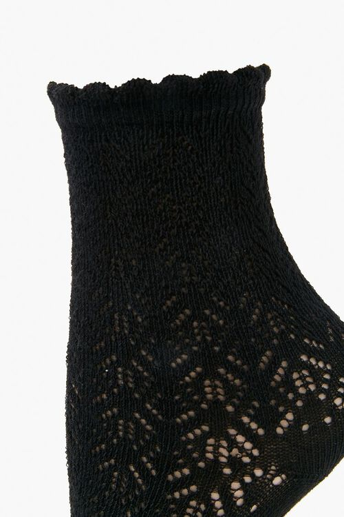 Lace Knit Crew Socks, image 2