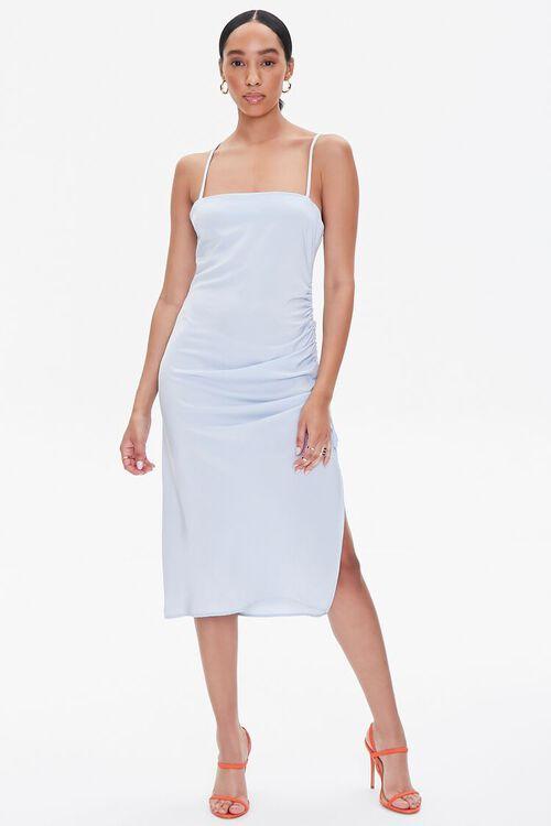 Satin Crisscross Slip Dress, image 4