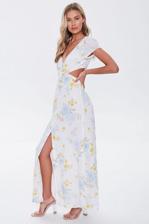 Floral Print Cutout Maxi Dress, image 2