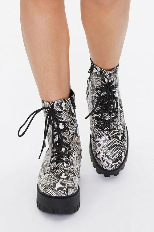 Faux Snakeskin Platform Boots, image 4