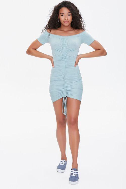 Off-the-Shoulder Ruched Dress, image 4