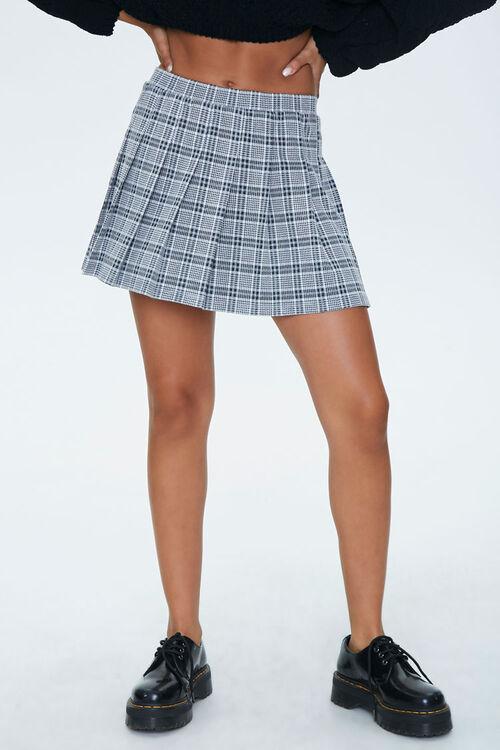 Pleated Houndstooth Mini Skirt, image 2