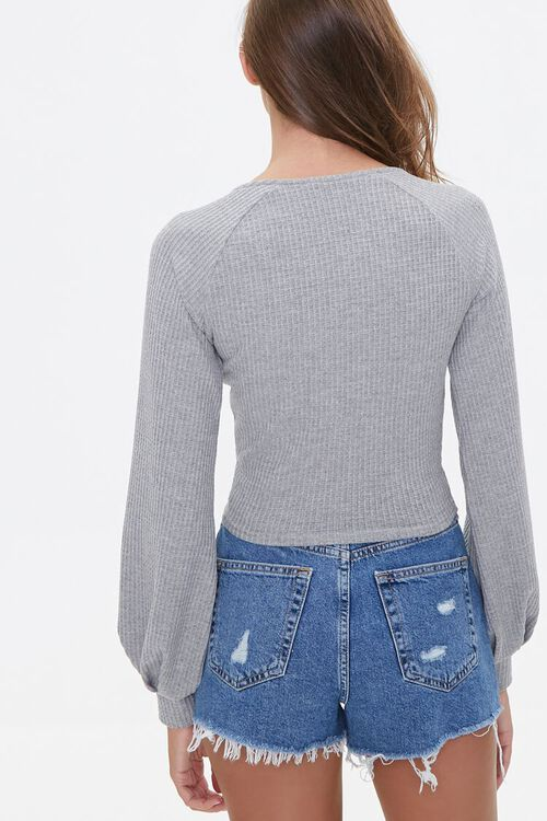 Ruched Drawstring Crop Top, image 2