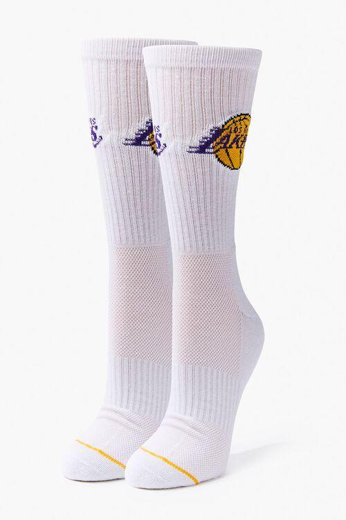 Men Los Angeles Lakers Crew Socks, image 1