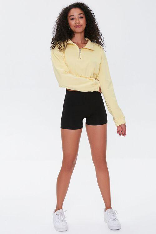 BLACK Basic Organically Grown Cotton Biker Shorts, image 5