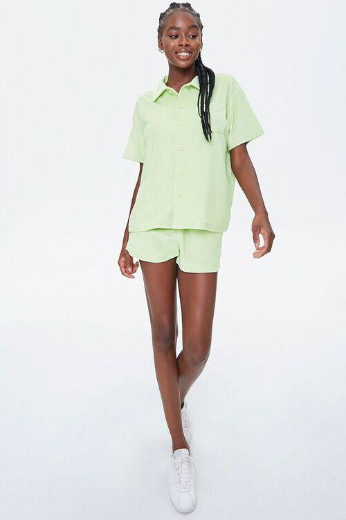 Terry Cloth Shirt & Shorts Set, image 4