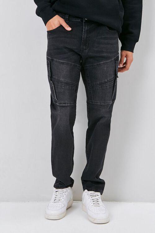 Flap-Accent Straight-Leg Jeans, image 2