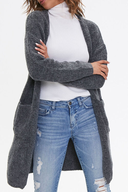 Longline Open-Front Cardigan, image 1