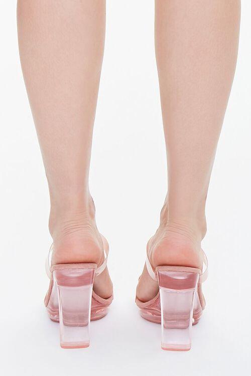 Semi-Translucent Lucite Block Heels, image 3