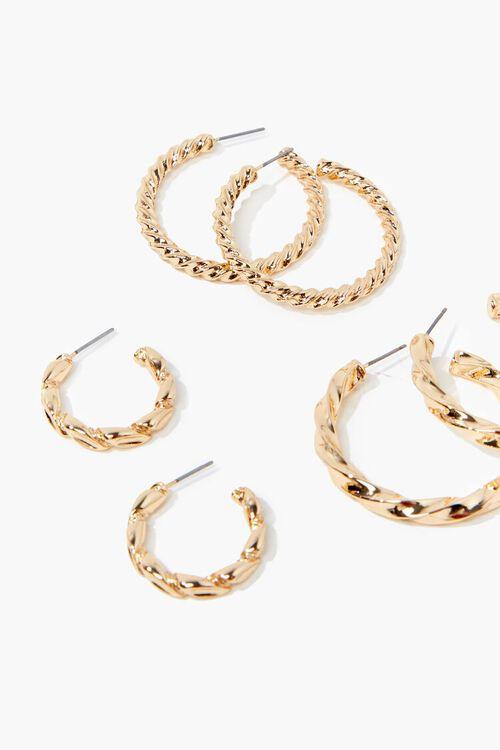 Twisted Hoop Earring Set, image 2