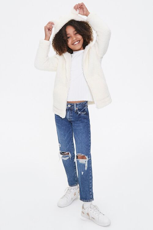 Girls Faux Shearling Zip-Up Hoodie (Kids), image 5