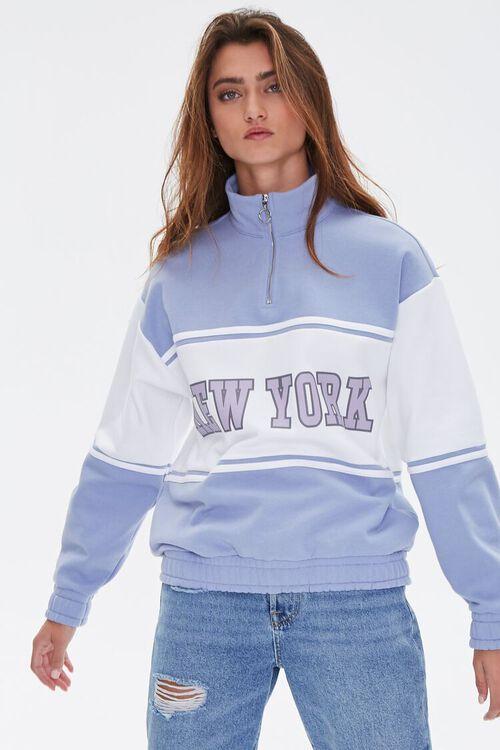 BLUE/MULTI New York Graphic Half-Zip Pullover, image 2