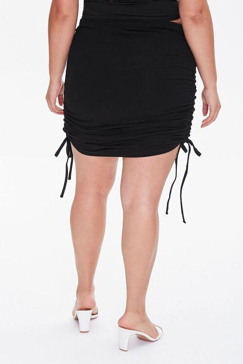 Plus Size Ruched Mini Skirt, image 4