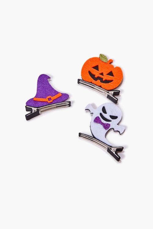 ORANGE/MULTI Halloween Gator Clip Set, image 1