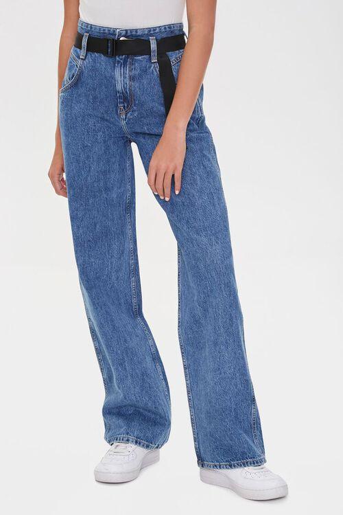 MEDIUM DENIM High-Rise Straight Jeans, image 2