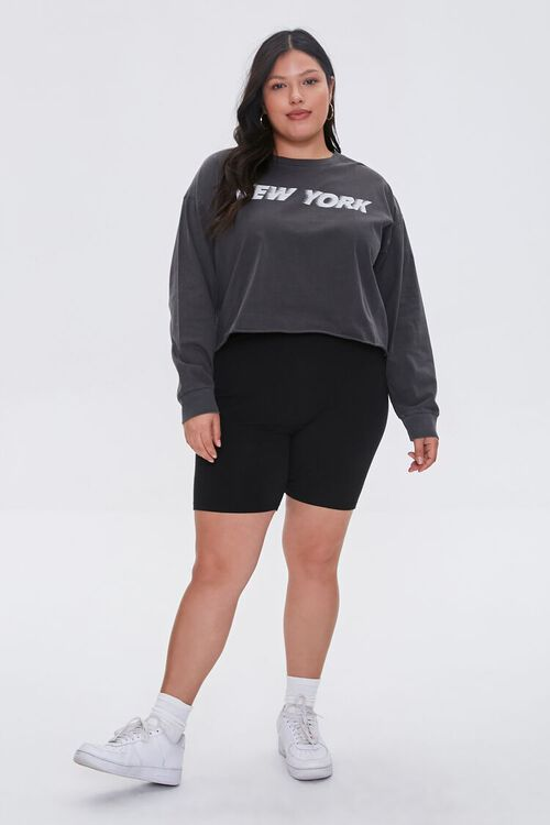 Plus Size New York Cropped Graphic Tee, image 4