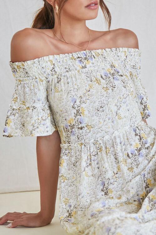 Floral Off-the-Shoulder Maxi Dress, image 5